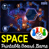 Space Themed Board Games - Editable Cards