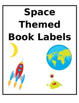 Space Themed Book Labels