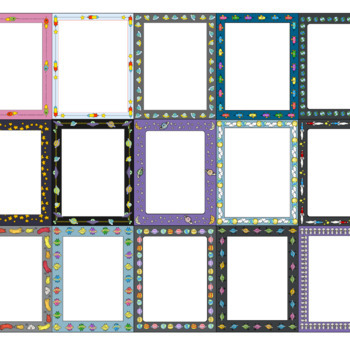 Space Themed Borders and Frames Clip Art Set