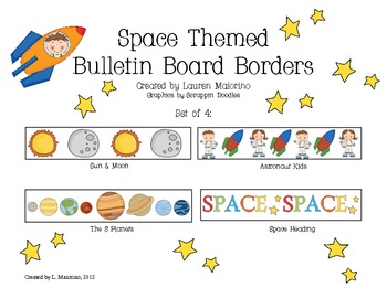 Space Themed Bulletin Board Borders/Trimmers
