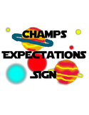 Space Themed CHAMPS Sign