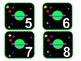 Space Themed Calendar Numbers