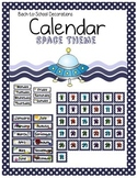Space Themed Calendar Set