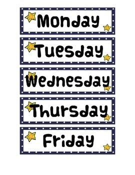 Space Themed Calendar Set