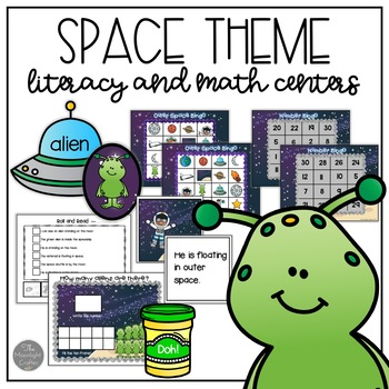 Space Themed Center Activities for Kindergarten and Pre-K