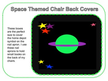 Space Themed Chair Pocket Covers