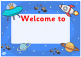 Space Themed Class Welcome Signs (Editable)