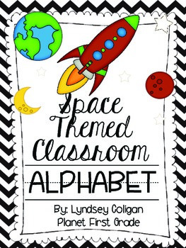 Space Themed Classroom Alphabet