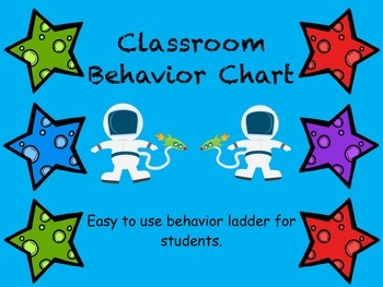 Space Themed Classroom Behavior Ladder