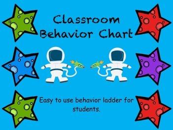 Space Themed Classroom Behavior Ladder