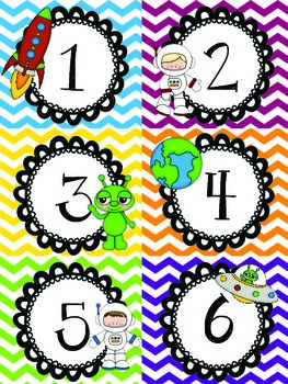 Space Themed Classroom Calendar
