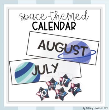 Space-Themed Classroom Calendar