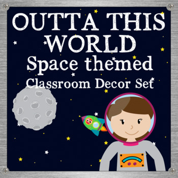 Space Themed Classroom Decor Set - Outta this world
