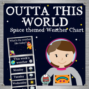Space Themed Classroom Decor - Weather Chart -  Outta this world