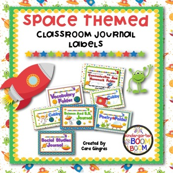 Space Themed Classroom Labels for Journals, Cubbies, Folders