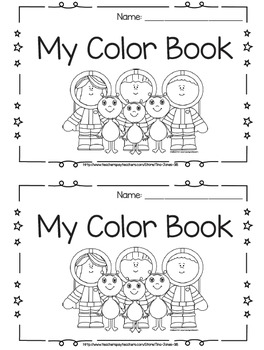 Space-Themed Color Words Emergent Reader