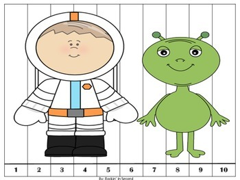 Space Themed Counting Puzzles