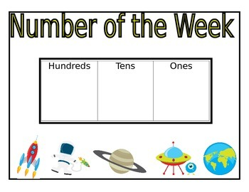 Space Themed Daily Math