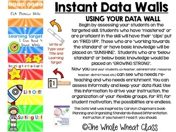 Space Themed Data Wall Clip Charts- EDITABLE