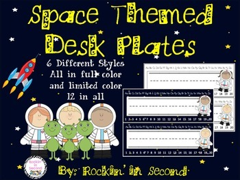 Space Themed Desk Plates