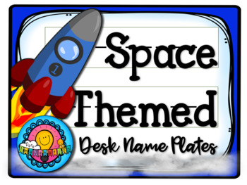 Space Themed Desk Plates Name Tag Labels