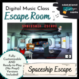 Space-Themed Digital Escape Room (MUSIC)   Ready-to-Play &