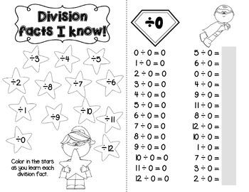 Division Facts Booklet: Superhero Theme