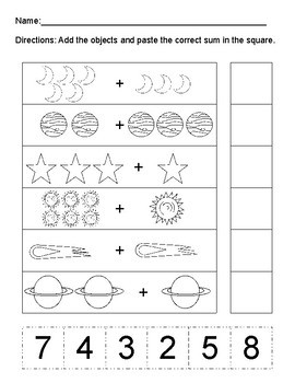 Space Themed ELA Math and Science Activities for PreK and Kindergarten