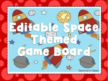 EDITABLE Space Themed Game Board