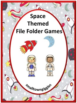 Space Math and Literacy File Folder Games Summer School Special Education