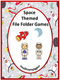 Outer Space Theme Activities, Autism File Folder Games Special Education Pre K K