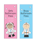 Space-Themed Hall Passes