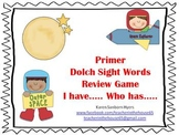 """Space Themed  """"I Have...Who Has..."""" Primer Dolch Sight Word Game"""