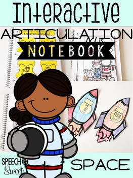Space Themed Interactive Articulation Notebook