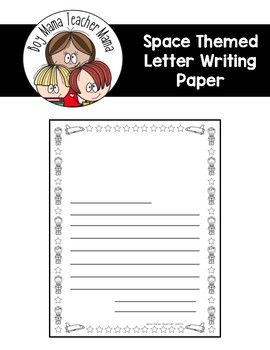 Space Themed Letter Writing Paper