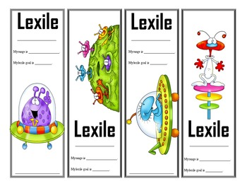 Space Themed Lexile Bookmarks