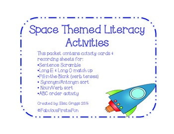 Space Themed Literacy Activities