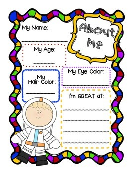 Space Themed Literacy Graphic Organizers