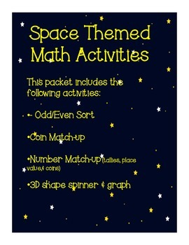 Space Themed Math Activities
