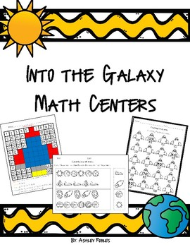 Space Themed Math Centers
