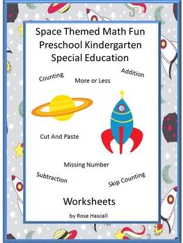 Space Themed Math, Special Education Math, Kindergarten Math Skills,Preschool