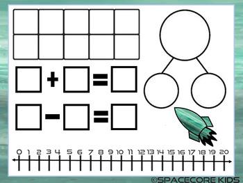 Space Themed Math Mats Free