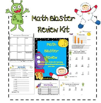 Space Themed Math Review Skill Packet