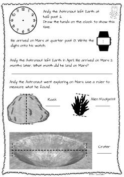 Space Themed Maths Assessment Task (US Version)