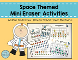 Space Themed Mini Eraser Math Activities - Number Recognition & Addition