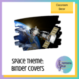 Space Themed Music Teacher Binder Covers