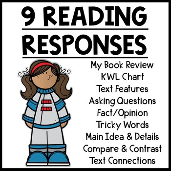 Space Themed Nonfiction Reading Response Worksheets
