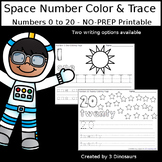 Space Themed Number Color and Trace