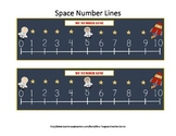 Space Themed Number Lines