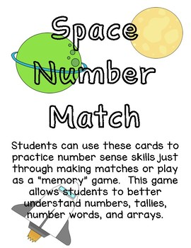 Space Themed Number Match Game